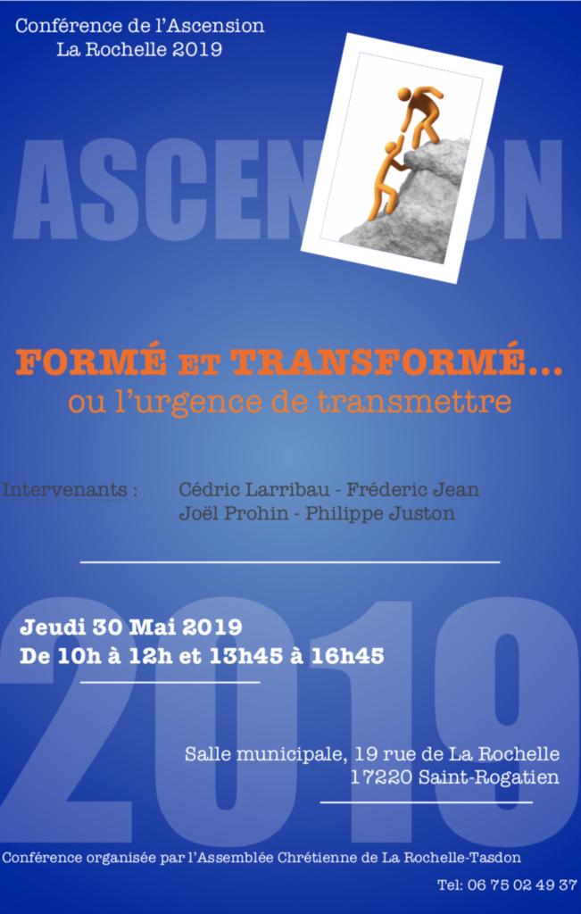 Conférence de l'ascension - La Rochelle @ Centre municial de rencontres de Saint-Rogatien